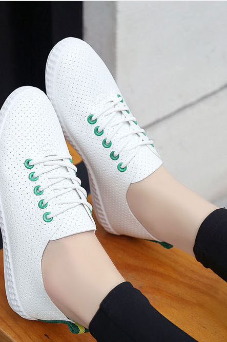 Breathable small white shoes leisure sports shoes flat sheet