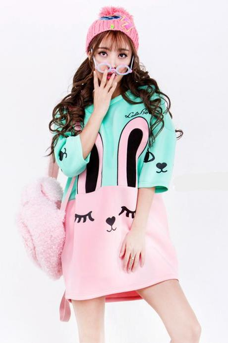 FREE SHIPPING Harajuku Cute Oversized Rabbit Sweater