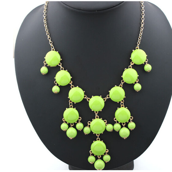 Bubble necklace resin new necklace000